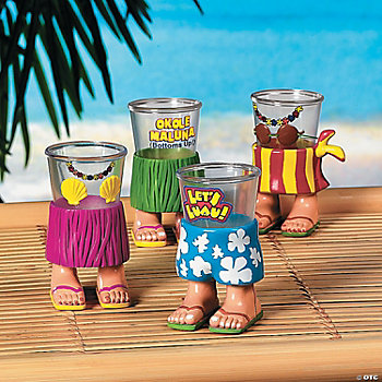 Luau Character Shot Glasses