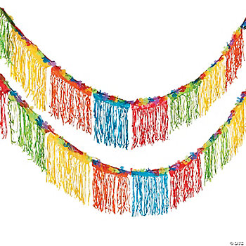 Tropical Fringed Floral Banner