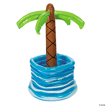 Inflatable Palm Tree In Pool Cooler