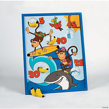 Beach Monkey Bean Bag Toss Game