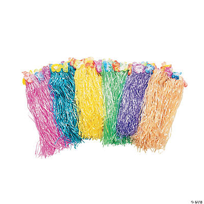 Child's Flowered Hula Skirt Assortment