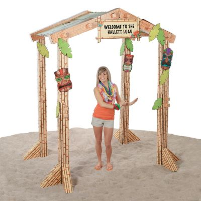 Beautiful Quickview · Image Of 3D Tiki Hut Cardboard Stand Up With Sku:34/1733