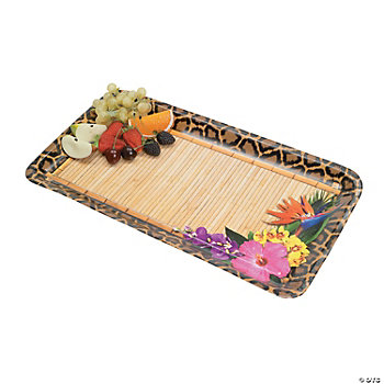 Paradise Safari Disposable Tray Set