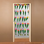 Tropical Door Curtain With Large Leaves