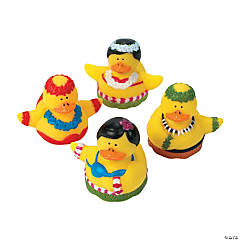 12 Hula Dancer Rubber Duckies