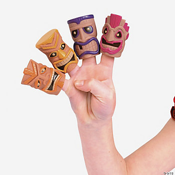 Tribal Mask Finger Puppets