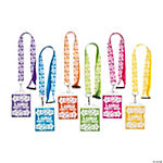 Luau Party Lanyards