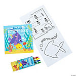 Tropical Sea Life Booklet With Crayons