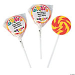 Personalized Luau Swirl Pops