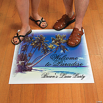 "Personalized ""Welcome To Paradise"" Floor Cling"