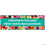 Personalized Multicolor Luau Banners - Small