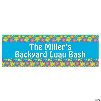 Personalized Multicolor Luau Banners