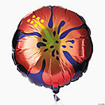 Tropical Flower Mylar Balloons