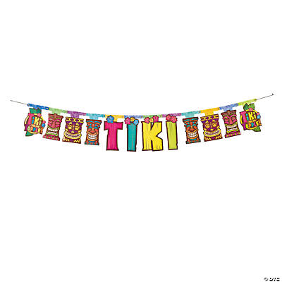 """Tiki"" Party Jointed Banner"