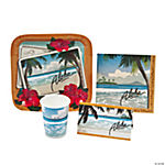 Vinatge Postcard Luau Tableware And Invites