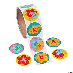 Hibiscus Roll of Stickers