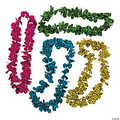 Bright Animal Print Leis