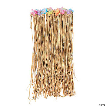 Adult's Flowered Hula Skirt