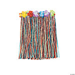 Multicolor Artificial Grass Flowered Kiddie Hula Skirt