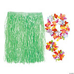 Child's Green Hula Skirt Set
