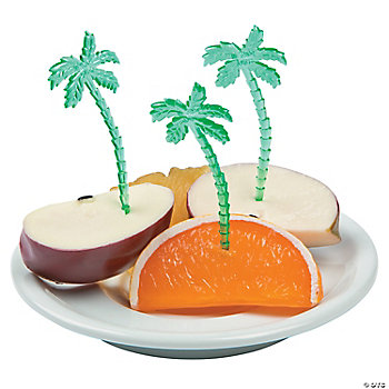 Plastic palm tree picks for Palm beach jewelry catalog request