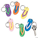 Plastic Flip Flop Key Chains