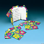 Cardboard Hibiscus Tropical Shirt Invitations