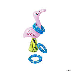 Inflatable Flamingo Ring Toss Game