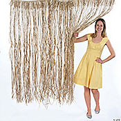 Natural Raffia Door Curtain