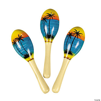 Painted Tropical Mini Maracas
