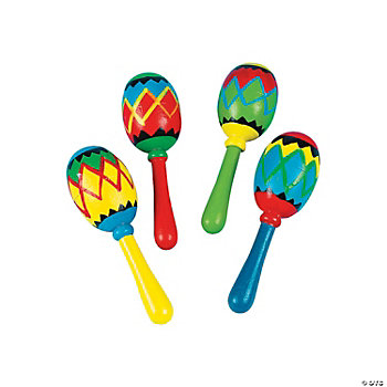 Painted Geometric Mini Maracas