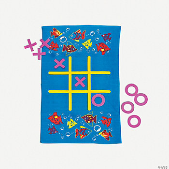 Tic-Tac-Toe Beach Towel Game