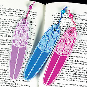 Bright Surfboard Bookmarks