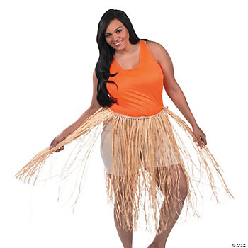 Adult's Plus-Size Hula Skirt