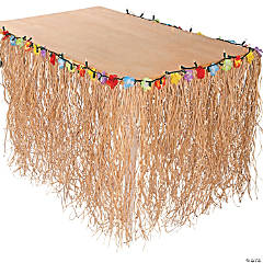 Light-Up Flowered Table Skirt