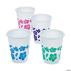 Hibiscus Disposable Plastic Cups