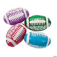 Tropical Hibiscus Print Footballs