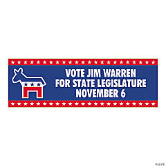 Personalized Large Democratic Party Banner