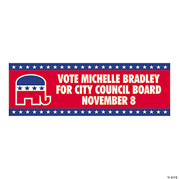 Personalized Small Republican Party Banner