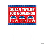 Personalized Republican Political Party Yard Signs