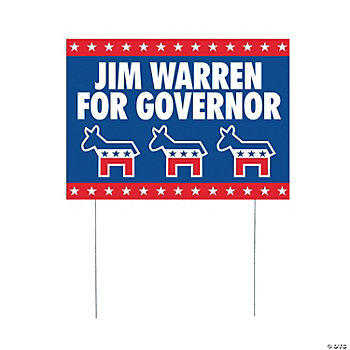 Personalized Democratic Political Party Yard Signs