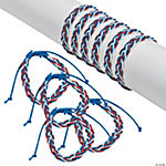 Red, White & Blue Braided Friendship Bracelets
