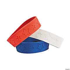 Red, White & Blue Star Big Band Bracelets