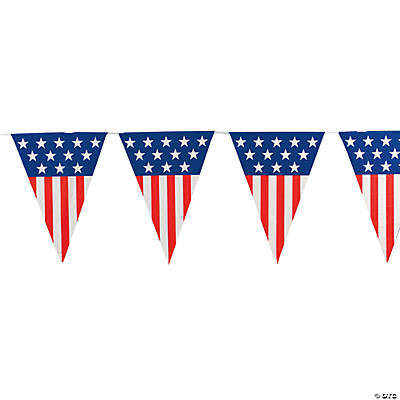 Large Patriotic Pennant Banner