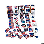 Patriotic Roll Sticker Set