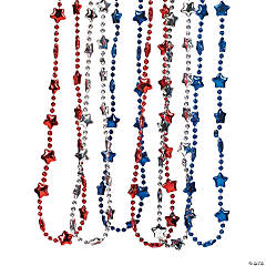 Metallic Patriotic Star Necklaces