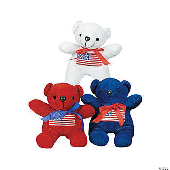 Plush USA Flag Bears