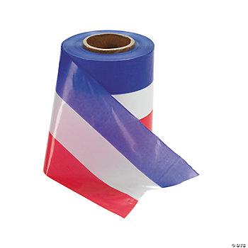 Plastic red white blue ribbon