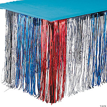 Patriotic Fringe Table Skirt