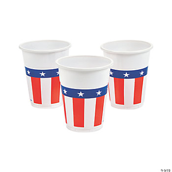 Patriotic Disposable Plastic Cups